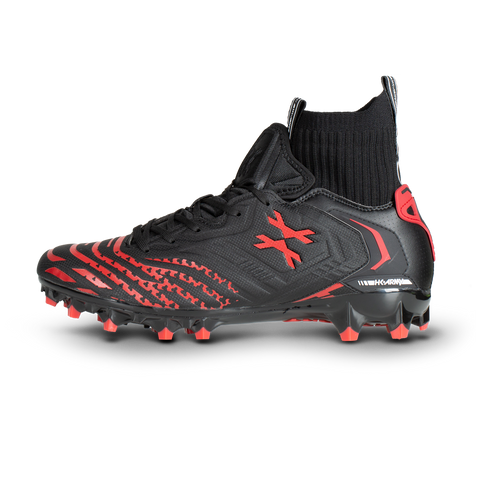 LT Diggerz_X1 - Low Top Cleats - Black/Red
