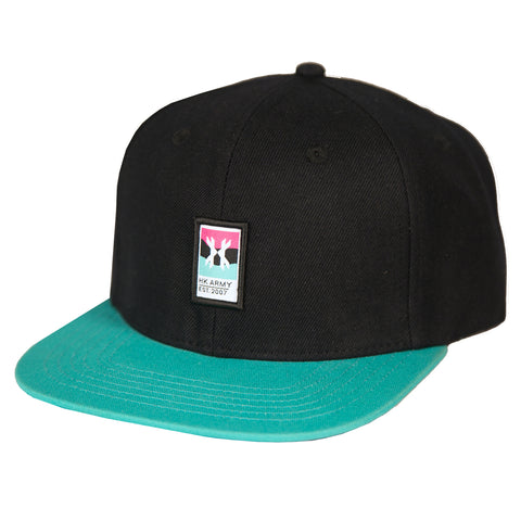 Wavy Hat - Black/Teal