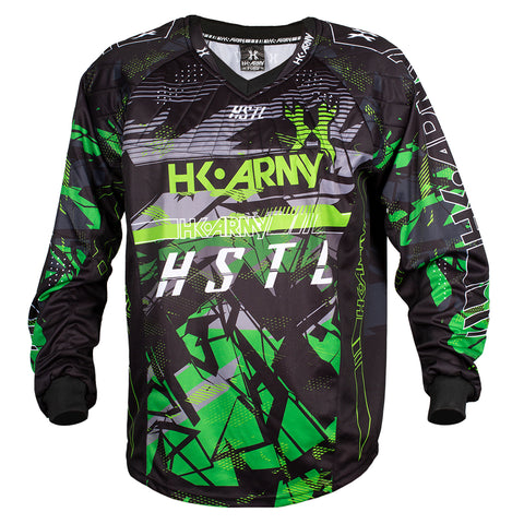 Youth HSTL Line Jersey - Slime - Green/Black
