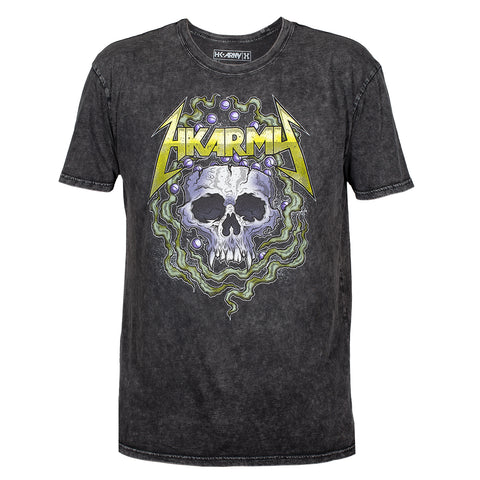 Head Banger - T-Shirt - Black Acid Wash
