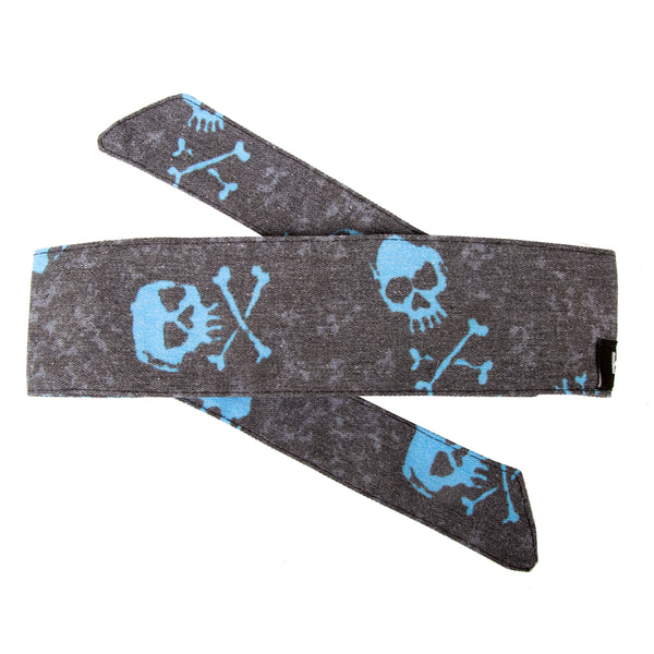 Bones - Hostilewear Headband - Blue