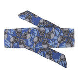 Skulls - Hostilewear Headband - Blue