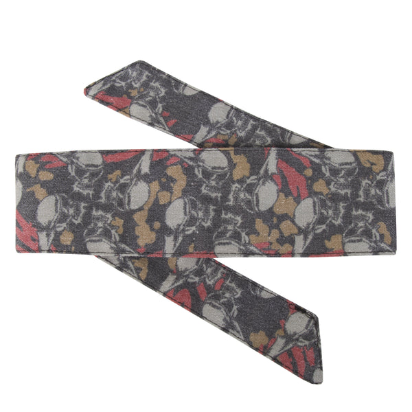 Skulls - Hostilewear Headband - Tan/Red