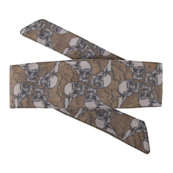 Skulls - Hostilewear Headband - Tan