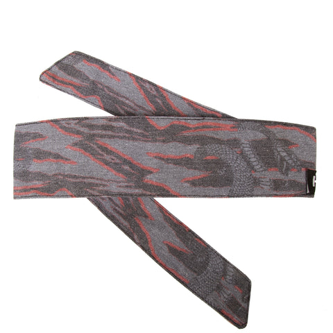 Snakes - Hostilewear Headband - Gray/Red