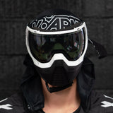 KLR Goggle Blackout White (White/Black)