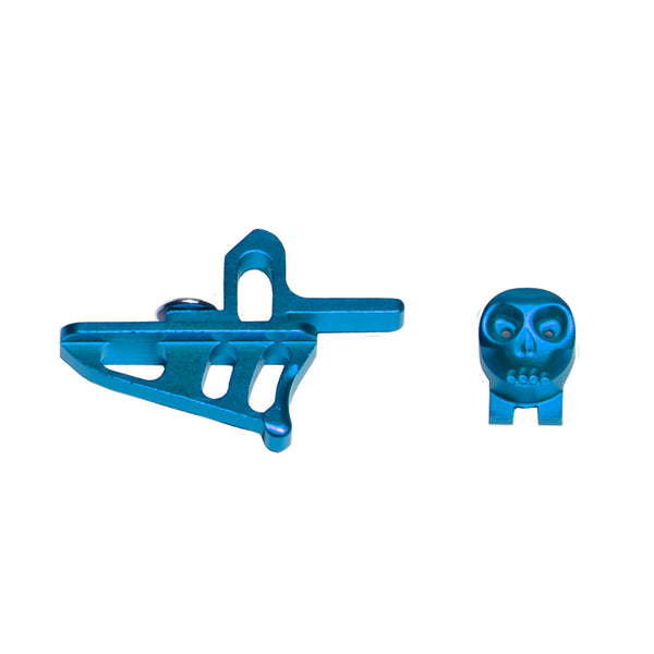 Skeleton Power Button + Release Trigger LTR/Rotor Kit - Blue