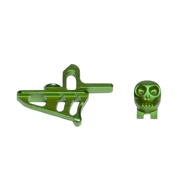 Skeleton Power Button + Release Trigger LTR/Rotor Kit - Green