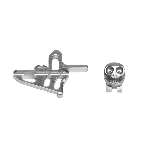 Skeleton Power Button + Release Trigger LTR/Rotor Kit - Silver