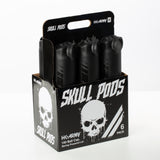Skull Pods - High Capacity 150 Round  - Black/Black - 6 Pack