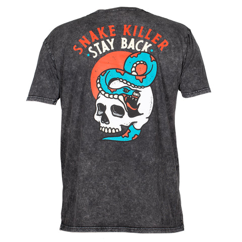 Snake Killer - T-Shirt - Black Acid Wash
