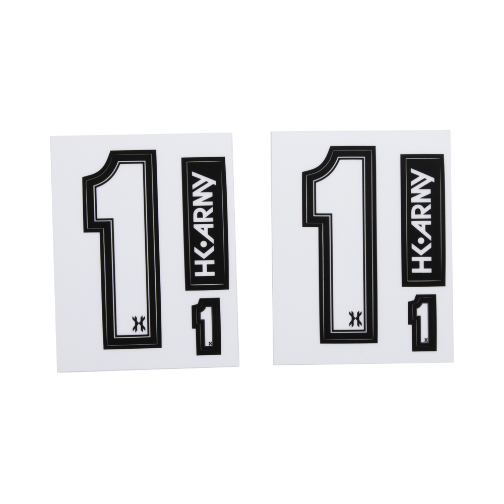 Number sticker pack hk army clothing