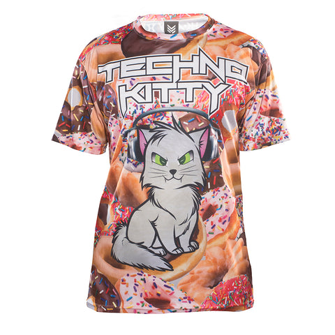 Techno Kitty - Donuts - Dry Fit