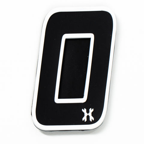 "Number ""0"" Rubber Velcro Patch"