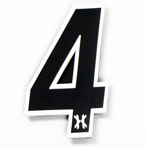 "Number ""4"" Rubber Velcro Patch"