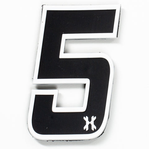 "Number ""5"" Rubber Velcro Patch"