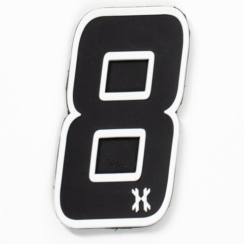 "Number ""8"" Rubber Velcro Patch"