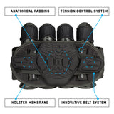 Zero G 2.0 Harness - Black/Black - 4+3+4