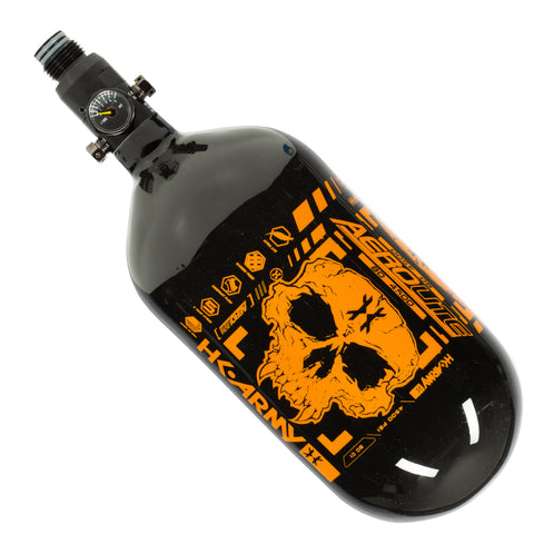 Doom - Extra Lite Carbon Fiber Tank - Standard Reg - 80ci / 4500psi  - Black/Neon Orange