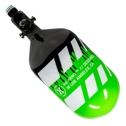 Off Break Drip - Extra Lite Carbon Fiber Tank - Standard Reg - 68ci / 4500psi - Green/Black