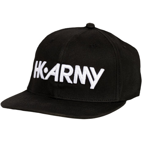 Typeface Snapback Hat Black/White