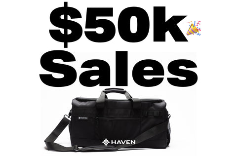 Haven Athletic Sells $50,000 of organized bags during presale