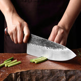 The Vallon® Hand Forged Professional Chef Knife with Ash Handle - The Epicurean Cook®