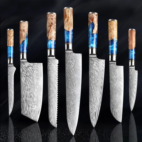 The River® Collection Damascus Knives and Knife Sets - The Epicurean Cook®
