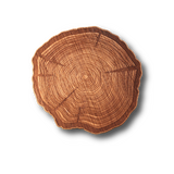 "Wooden Coasters 4"" (Tree Stump in Mahogany) 4-Pack - The Epicurean Cook®"