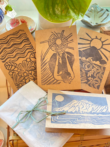 Hand Carved Block Print Card Set Vol.1