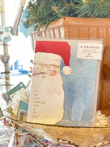 Boxed Holiday Cards Santa