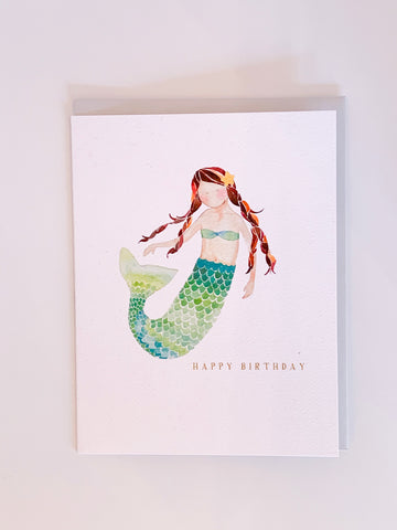 Mermaid Happy Birthday