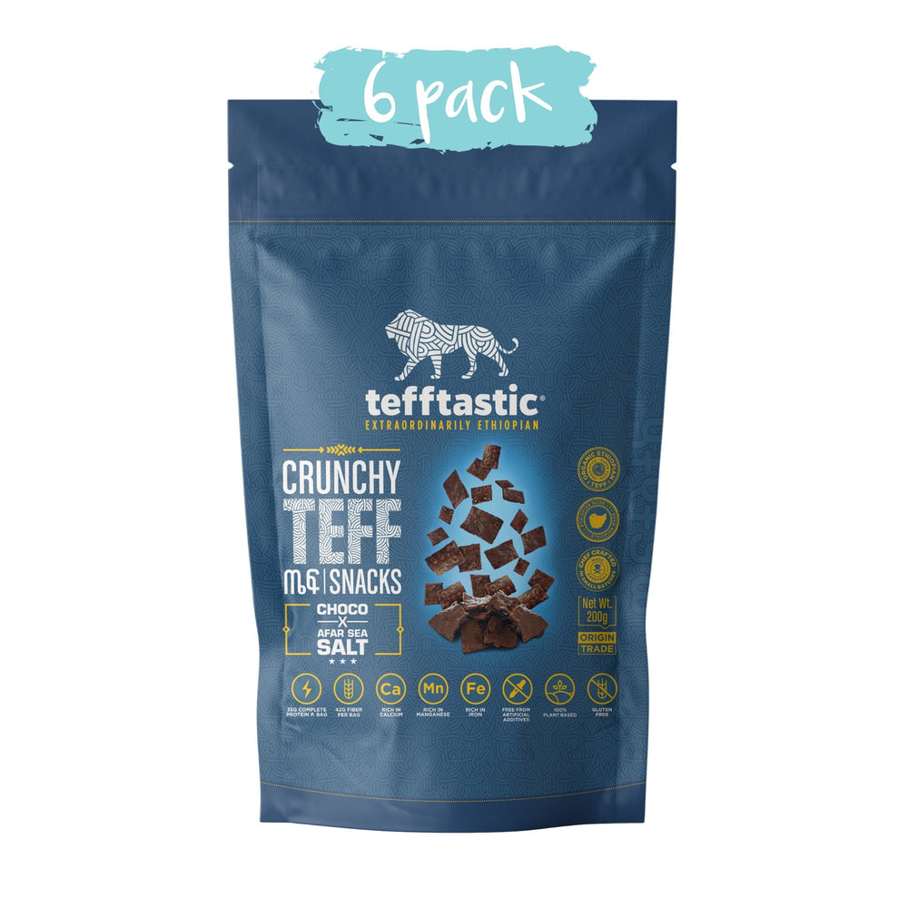 Tefftastic CHOCO x Afar Sea Salt snacks 6 pack