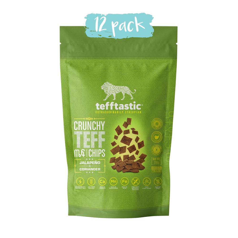 Tefftastic Jalapeno x Coriander Chips 12 pack