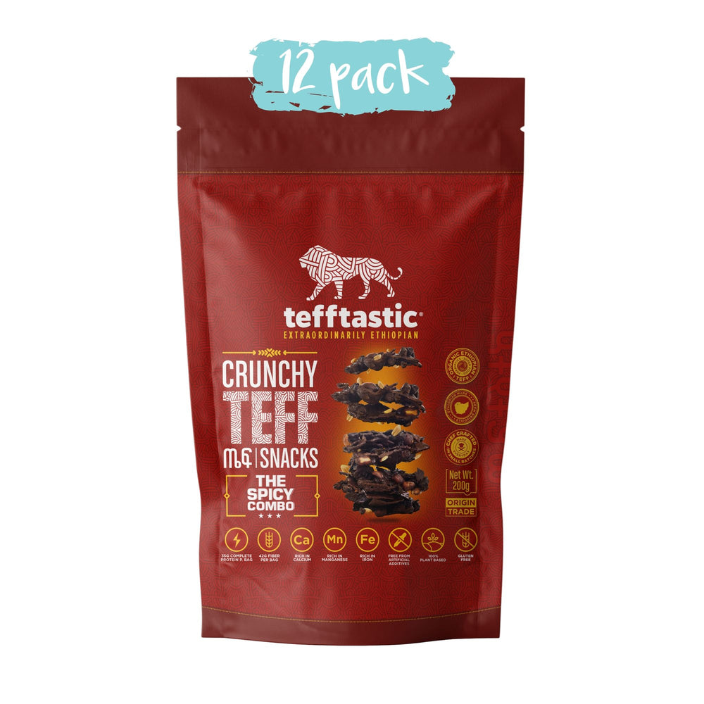 Tefftastic Spicy Combo Teff Snacks 12 pack