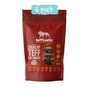 Tefftastic Spicy Combo Teff Snacks 6 pack
