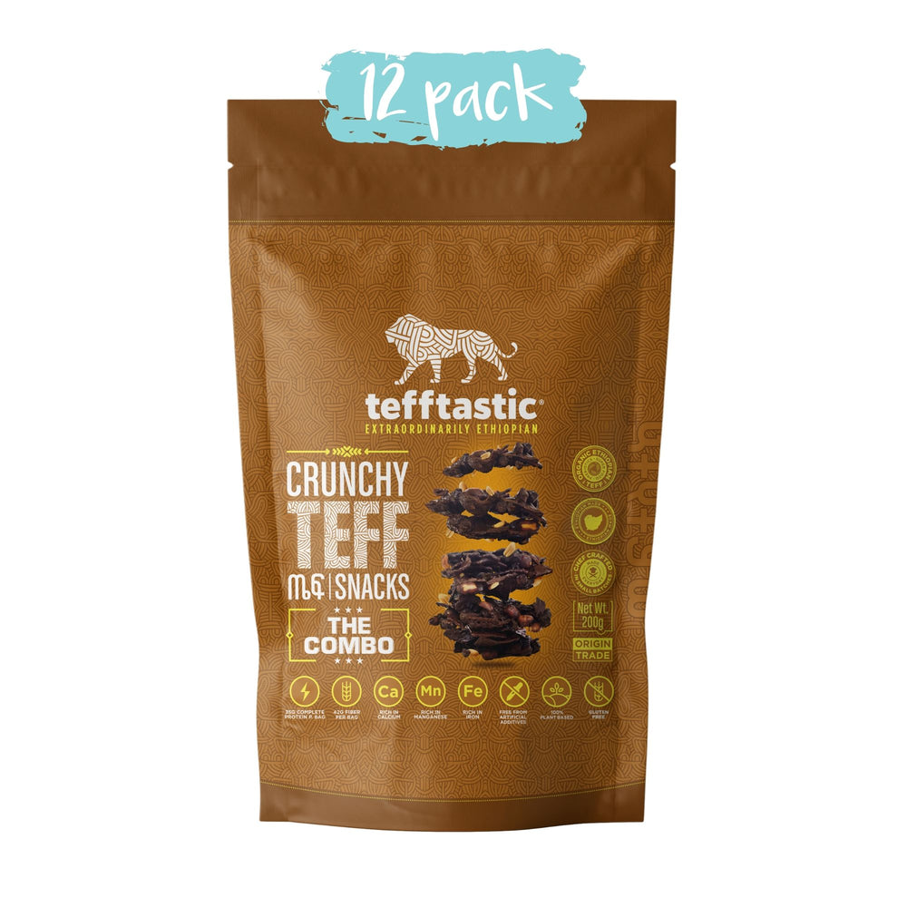 Tefftastic Combo Teff Snacks 12 pack