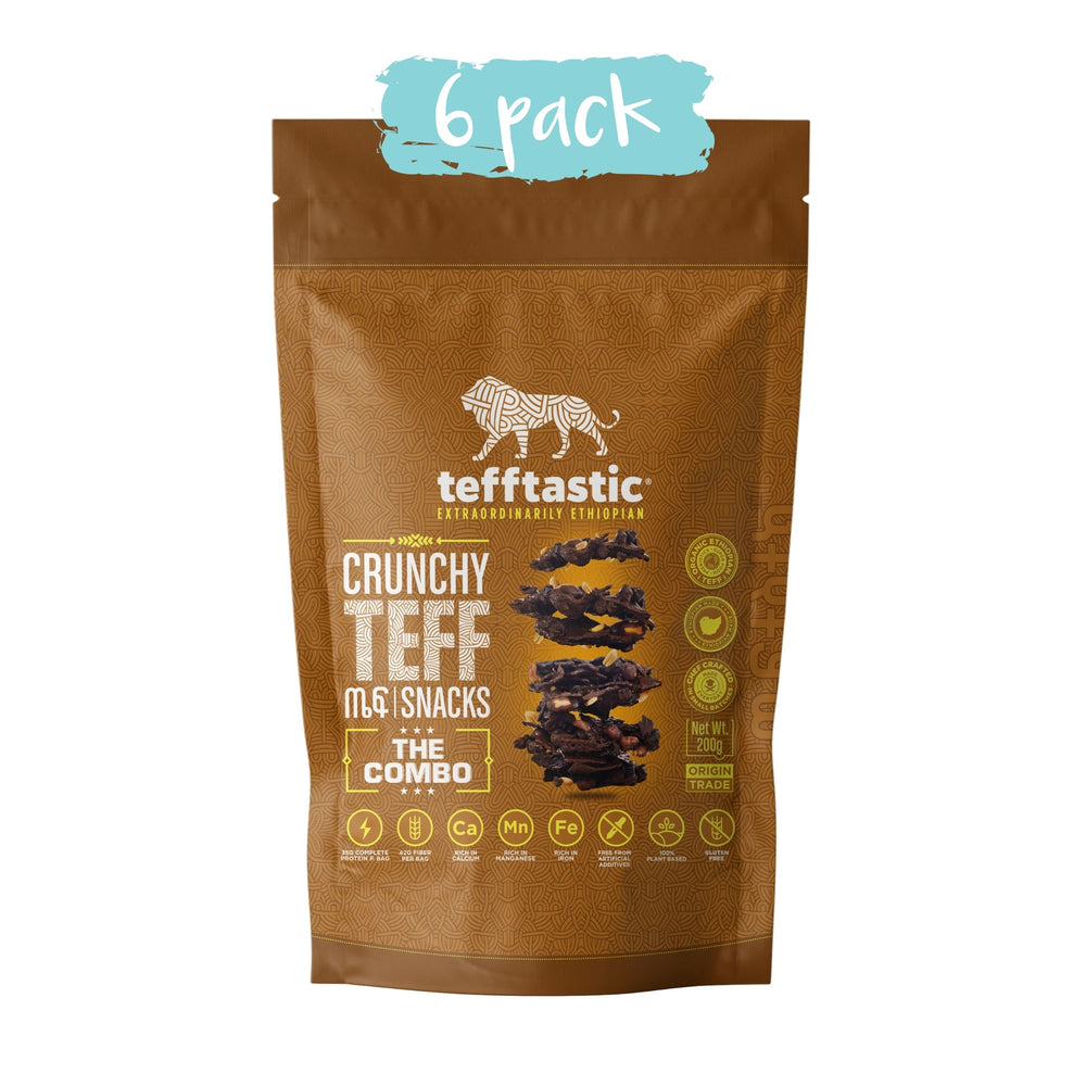 Tefftastic Combo Teff Snacks 6 pack