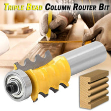 Triple Bead Column Router Bit