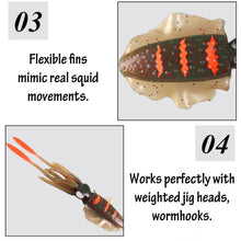 Squidy Soft Lure (Pack Of 3)