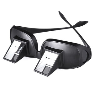 Lazy glasses for horizontal reading and watching tv