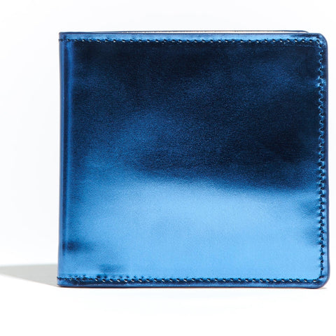 Bi Fold Wallet Blue Mirror