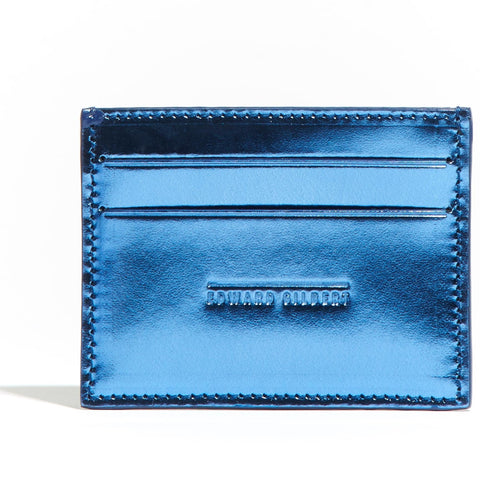 Card Holder Blue Mirror