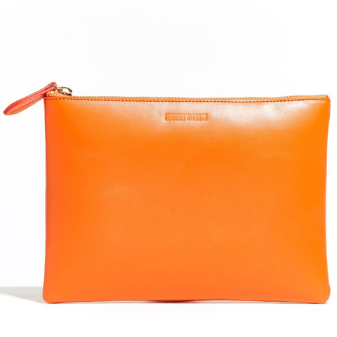 Large Zip Pouch Orange