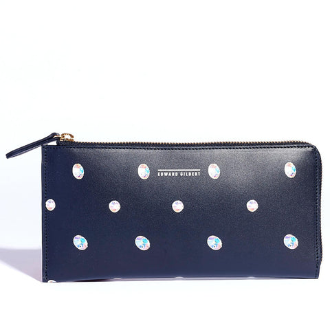 RWB x EDWARD GILBERT Travel Wallet in sequin polka