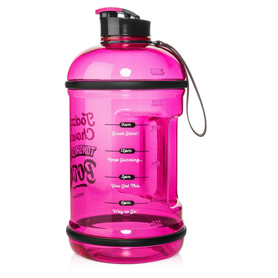 H2OCOACH - Today's Choices - Tomorrow's Body Half Gallon Water Bottle - Flip Top - 85 oz - Pink