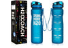 H2OCOACH - Drink More H2O Water Bottle - 36 oz. with Fruit Infuser Filter