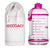 H2OCOACH - Boss Water Bottle - 1 Gallon - Treat Yo Self! - 128 oz - Transparent w. Pink