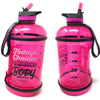 H2OCOACH - Today's Choices - Tomorrow's Body Half Gallon Water Bottle - w. Straw - 85 oz - Pink