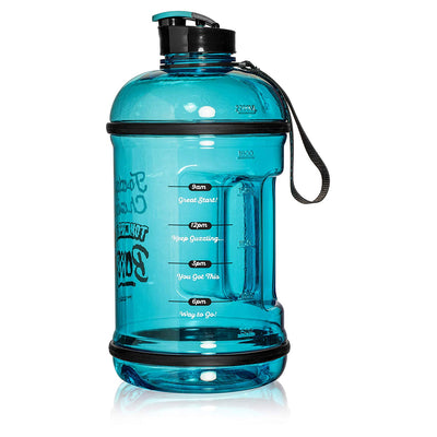 H2OCOACH - Today's Choices - Tomorrow's Body Half Gallon Water Bottle - w. Straw - 85 oz